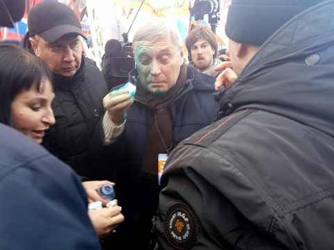Касьянова облили зеленкой на…