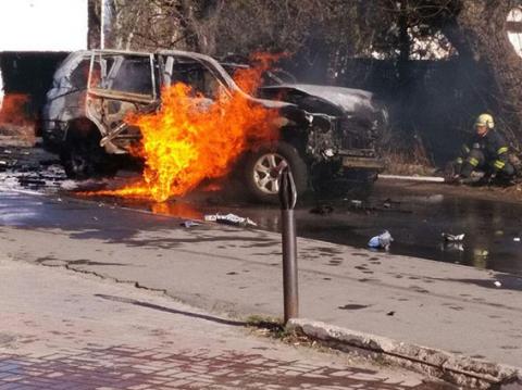 В центре Мариуполя взорвался…