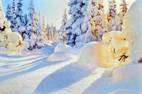 Зимний лес в живописи