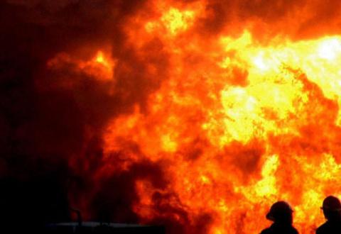 Пожар в воинской части в Сум…