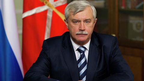 Губернатор Санкт-Петербурга Георгий Полтавченко поздравил Симферополь с Днем города