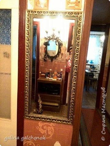 Рама для зеркала из потолочных плинтусов