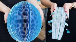 Бумажный шлем для велосипеди…