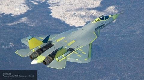 Новейший истребитель Су-57 с…