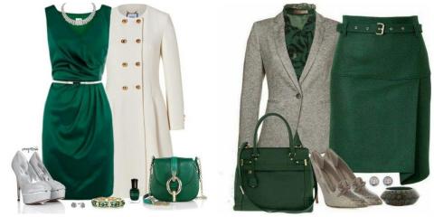 С чем носить зеленый цвет в …