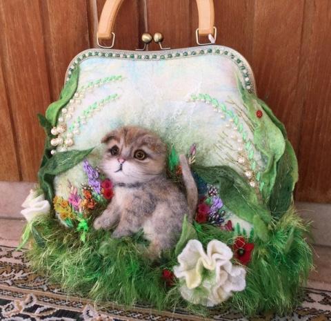 Вы будете удивлены от такой красоты!!!Объёмные сумочки, сделанные из шерсти!