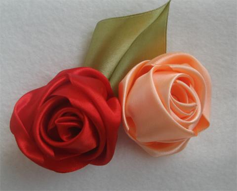 10 способов сделать розу из ленты
