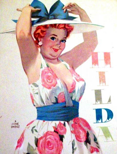 Абсолютно нетипичная королева пин-апа — позитивная и рыжеволосая толстушка Хильда!