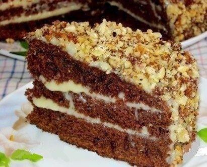 Шоколадный торт на кефире «Ф…