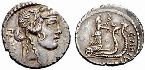 Фантастические биги на монетах Римской республики