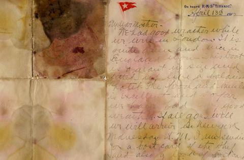 Последнее письмо с «Титаника…