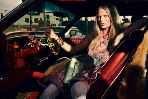 Анна Юэрс  в фотосессии  Микаэля Янссона  для журнала Interview март 2014