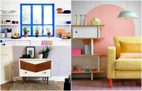 18 крутых идей, которые помогут оживить интерьер при помощи краски