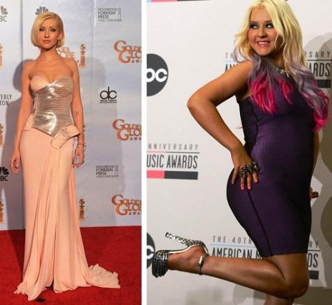 Фотографии звездных красавиц, которые, набрав лишний вес, стали только счастливее