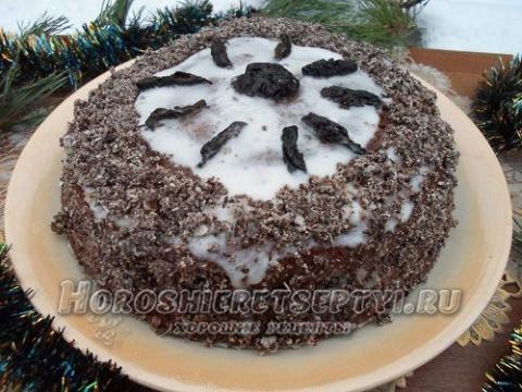 Торт на кефире рецепт с черносливом