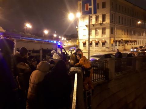 В Петербурге сотрудники мчс спасли кота со льда канала Грибоедова
