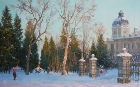 А  снег идёт  ...    живописный альбом  Владимира Жданова.