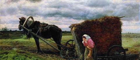 Как раньше женщины рожали и шли потом мужей кормить