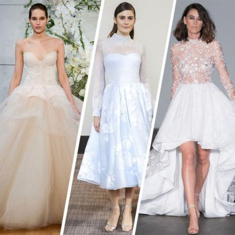 Свадебная мода — 2018: от ультрамини до турнюра