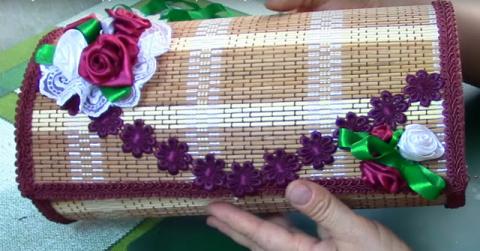 Бамбуковая шкатулка своими руками.