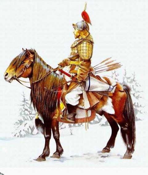 Погребение конного лучника в Кузнецкой степи.