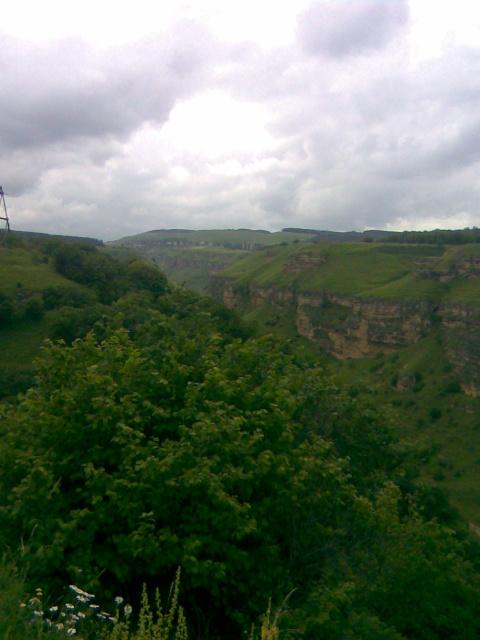 Вид на ущелье реки Берёзовка.