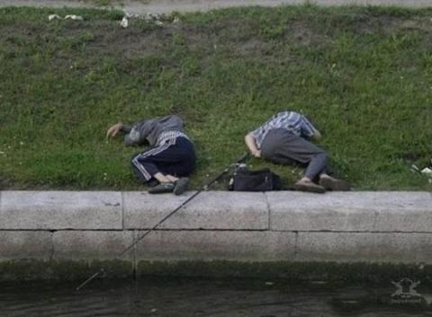 Прикольные фотографии про любителей рыбалки