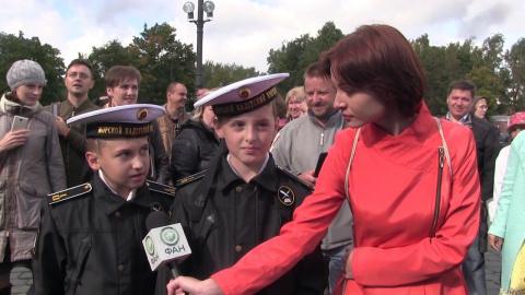 Юные морские кадеты на прися…