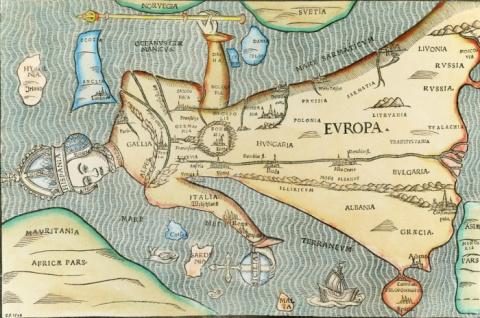 """Карикатуры европейского масштаба: самые оригинальные карты в """"лицах"""" разных веков"""