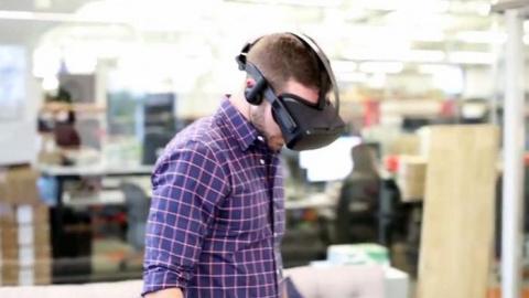 Беспроводной прототип Oculus…