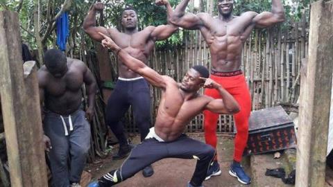 Тренажерный зал африканских …