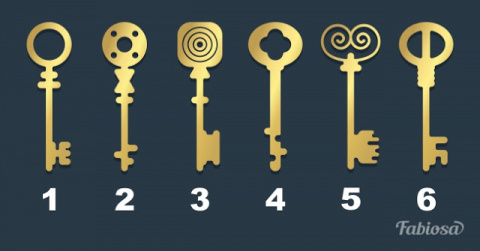 Выберите ключ, которым вы от…