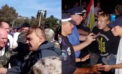 Новости Украины: нацист, участвовавший в событиях в Одессе 2 мая, получил ножевой удар