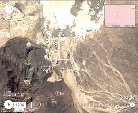 Тайная военная база ВВС США «Зона 51» массивно разрастается
