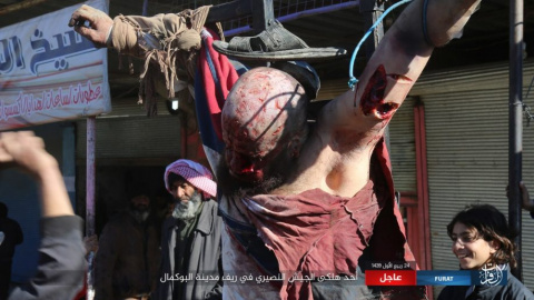 Шокирующие зверства ИГИЛ*: террористы распяли сирийского солдата в провинции Дейр-эз-Зор