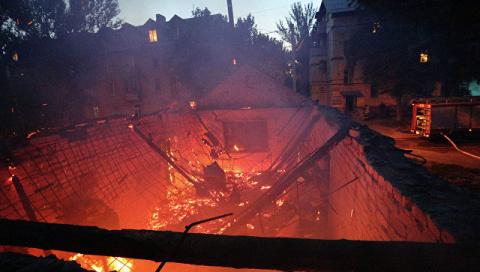 Срочно! В ЛНР горят жилые дома, в результате обстрела со стороны ВСУ