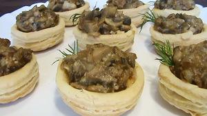 Волованы с грибами