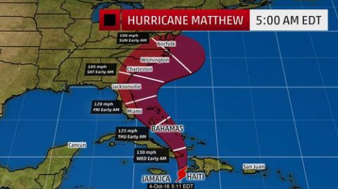 """Ураган """"Мэттью"""" накроет побе…"""