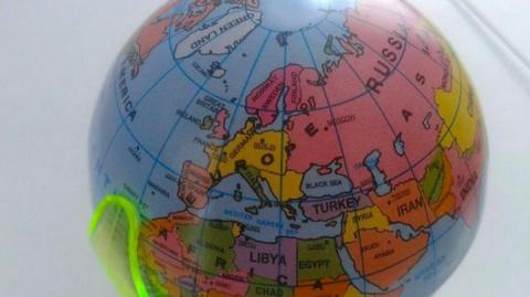 На немецком глобусе не оказа…