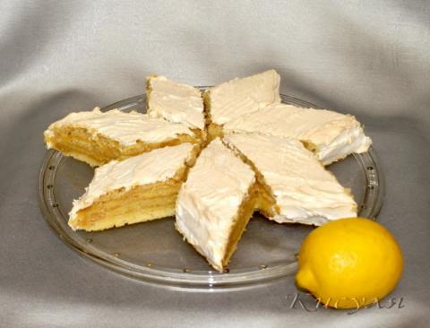 Лимонный торт-пирог из детства!