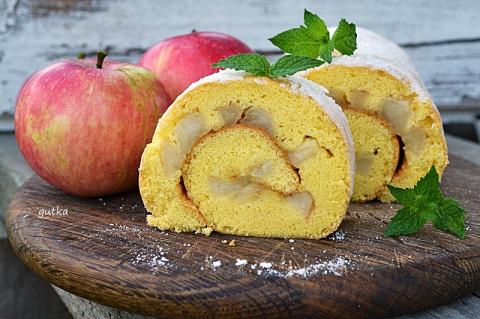 Рулет с яблоками (вкусно)