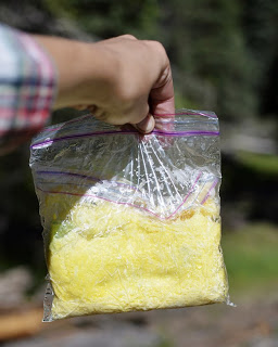 Омлет в пакете для заморозки