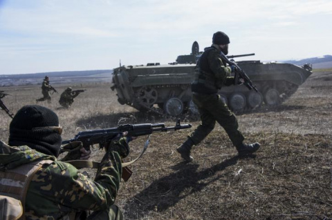 Бои на Донбассе вспыхнули с …