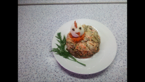 """Салат """"Объеденье""""с зеленой фасолью"""