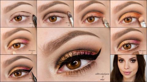 Как правильно сделать макияж тенями