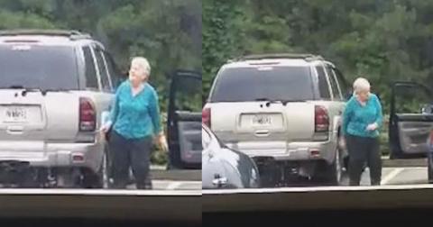Бабуля не догадывалась, что ее снимает видеокамера. То, что она сделала на парковке, прославило ее на всю Сеть!