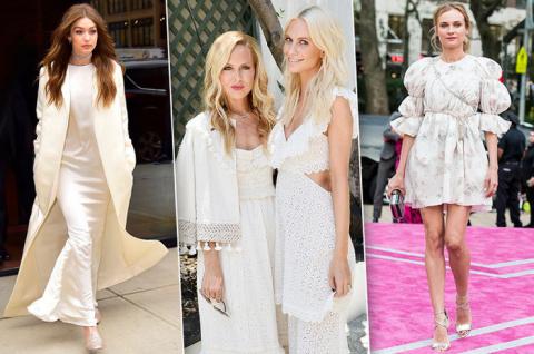 Белая, но не пушистая: 10 примеров идеальных белых платьев на звездах