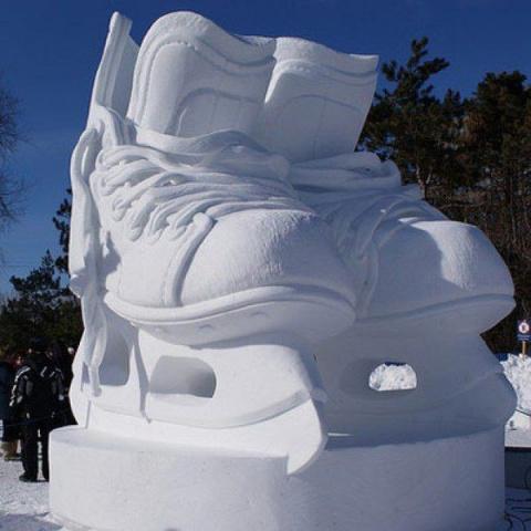 Скульптуры из снега. Холодное великолепие!