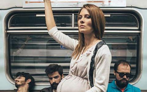Мужик чайлд-фри в московском метро