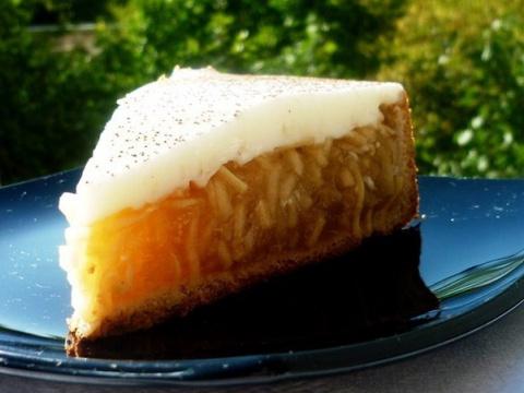 Яблочный пирог «Яблочный лучик». Легкий, с кислинкой, нежное рассыпчатое тесто!